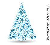 simple abstract christmas tree... | Shutterstock .eps vector #528687478