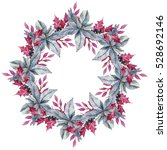 Watercolor Wreath With Hand...