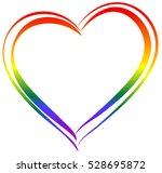 Lgbt Rainbow Heart Symbol Love. ...