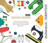 sewing banner card for your... | Shutterstock . vector #528697015