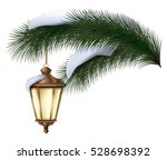 Christmas Pine Tree Branch Wit...