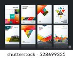 business vector set. brochure... | Shutterstock .eps vector #528699325