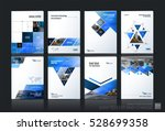 business vector set. brochure... | Shutterstock .eps vector #528699358