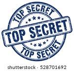 top secret stamp blue round