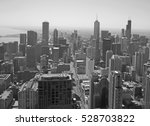 aerial view of chicago city ... | Shutterstock . vector #528703822