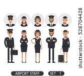 airport staff set 1.... | Shutterstock .eps vector #528704428