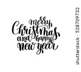 black and white merry christmas ... | Shutterstock .eps vector #528709732