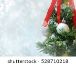 christmas tree decoration with... | Shutterstock . vector #528710218