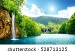 awesome landscape of beautiful... | Shutterstock . vector #528713125