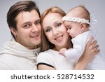 family with a small child four... | Shutterstock . vector #528714532