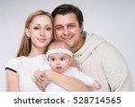 family with a small child four... | Shutterstock . vector #528714565