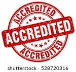 accredited. stamp. red round... | Shutterstock .eps vector #528720316