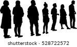 full length of silhouette... | Shutterstock .eps vector #528722572