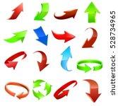 arrow icon set. vector | Shutterstock .eps vector #528734965