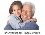 happy grandfather and... | Shutterstock . vector #528739096