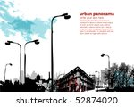 urban collage with grungy... | Shutterstock .eps vector #52874020