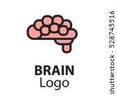 brain logo silhouette badges... | Shutterstock .eps vector #528745516