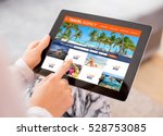 travel agency's website on... | Shutterstock . vector #528753085