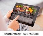 low carb diet | Shutterstock . vector #528753088