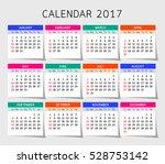 calendar  year.  vector ... | Shutterstock .eps vector #528753142
