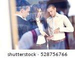 business team with digital... | Shutterstock . vector #528756766