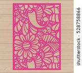 die cut card. laser cut vector...   Shutterstock .eps vector #528758866