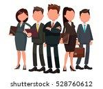 team of businessmen headed by... | Shutterstock .eps vector #528760612