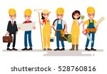 team home builders. engineer... | Shutterstock .eps vector #528760816