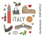 italy travel and culture  | Shutterstock .eps vector #528760912