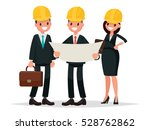 engineer customer and... | Shutterstock .eps vector #528762862