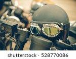 Retro Motorcycle Helmet With...
