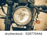 focus on a headlamp. retro... | Shutterstock . vector #528770446