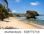 A Lovely Beach On Barbados On...