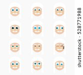 set of cute judge emoticons.... | Shutterstock .eps vector #528771988