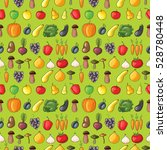 fruits and vegetables flat... | Shutterstock .eps vector #528780448