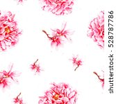 seamless watercolor pattern for ... | Shutterstock . vector #528787786