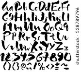 hand drawn font made by dry... | Shutterstock .eps vector #528789796