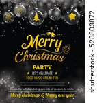 invitation merry christmas... | Shutterstock .eps vector #528803872