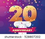 20 anniversary vector template... | Shutterstock .eps vector #528807202