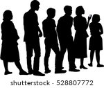 full length of silhouette... | Shutterstock .eps vector #528807772