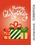 vector christmas greeting cards ... | Shutterstock .eps vector #528809326