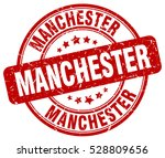 manchester. stamp. red round... | Shutterstock .eps vector #528809656