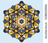 bright colorful mandala on the...   Shutterstock .eps vector #528820006