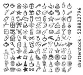 vector set of christmas icons.... | Shutterstock .eps vector #528822796