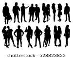 woman and man silhouettes | Shutterstock .eps vector #528823822