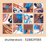 set of artistic creative cards... | Shutterstock .eps vector #528829585