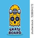 skateboard skull design | Shutterstock .eps vector #528834172