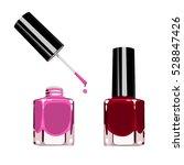 set of color nail polish. | Shutterstock .eps vector #528847426