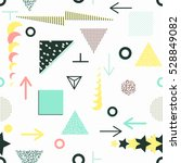 trendy geometric elements... | Shutterstock .eps vector #528849082