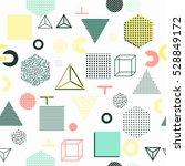 trendy geometric elements... | Shutterstock .eps vector #528849172
